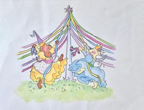 12 Dancing Princesses - Front Jacket Art (Maypole)
