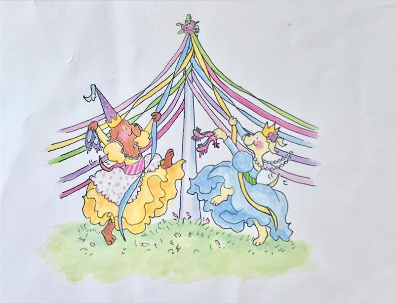 12 Dancing Princesses - Front Jacket Art (Maypole)