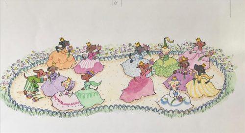 12 Dancing Princesses - handing out bouquets