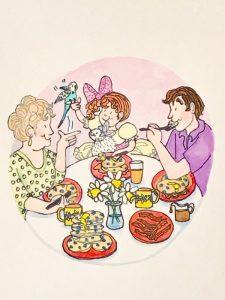 A&S Grandmother Nights - Everyone Eating Pancakes