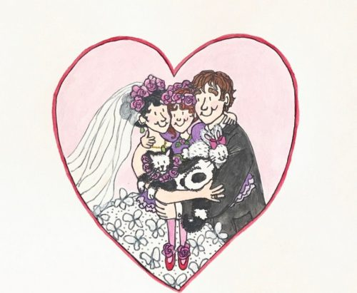 A&S Wedding Day - Valentine Heart